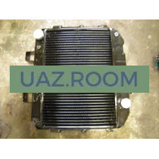 Радиатор  охлаждения  УАЗ 452, 469 медный ТРЁХрядный (ШААЗ)