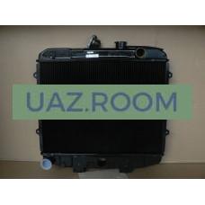 Радиатор  охлаждения  УАЗ Патриот 05-06, 3160, 3162, Хантер (409) медный ДВУХрядный (Оренбург)