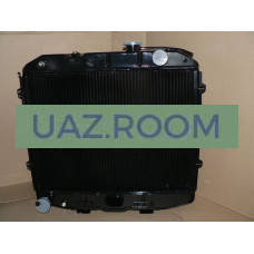 Радиатор  охлаждения  УАЗ Хантер (4213), 452 (4091, 4213) медный ТРЁХрядный (ШААЗ)
