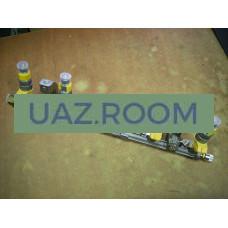 Топливопровод ГАЗель дв.4216 Евро-2 (ПЕКАР) со штуцером и форсунками в сборе (под штуцер)