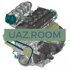 Двигатель  ЗМЗ-40524 АИ-92 ГАЗ 3302, 2705, 2752, 3221 Евро-3 (ЕВРО-4) 140,5 л.с. (ПОД ГУР, с ремнем)