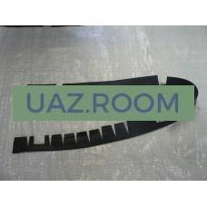 Уплотнитель  ЗАДНЕГО крыла УАЗ 469, Хантер (прокладка крыши) РЕЗИНА **