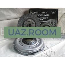 Сцепление  УАЗ дв.УМЗ-417,-421 (корзина+диск: ЛЕПЕСТКОВОЕ, широкий шлиц) БЕЗ подш.  'УАЗ' (в упак.)