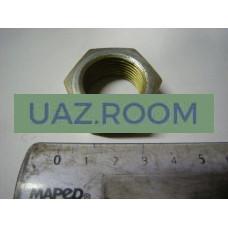 Гайка  М22х1,5, h = 13, под ключ 30 (сошки рулевого управления УАЗ) (ЗАВОД, С КОНСЕРВАЦИИ)