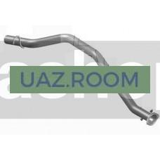 Труба  выхлопная  ГАЗ 2217 Соболь (дв.ЗМЗ 40524, Chrysler Евро-3) (АВТОГЛУШИТЕЛЬ)