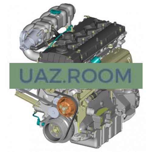 Двигатель  ЗМЗ-40905 АИ-92 УАЗ Хантер, Евро-4 (под КП 5-ступ. DYMOS, ПОД ГУР БАГУ)