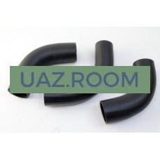 Патрубки  радиатора  УАЗ 452, 469 дв.4178 (к-кт из 3-х шт.) резина, ЧЕРНЫЕ 'ВПТ'