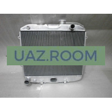 Радиатор  охлаждения  УАЗ Хантер (4213), 452 (4091, 4213) алюминий ДВУХрядный