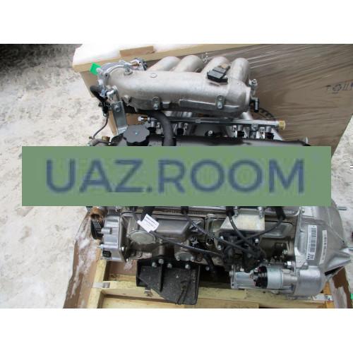 Двигатель  УМЗ-42164 АИ-92 ГАЗель Бизнес, ЕВРО-4, под ГУР, 1 катушка, поликлин., с гидрокомпенсатор.