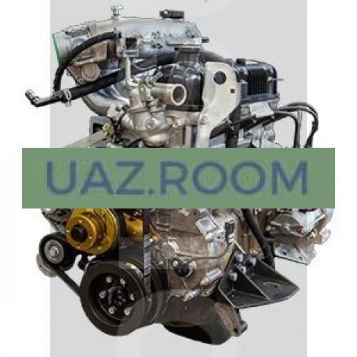 Двигатель  УМЗ-42164 АИ-92 ГАЗель Бизнес, ЕВРО-4, под ГУР, 1 катушка, поликлин., без компрессора