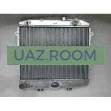 Радиатор  охлаждения  УАЗ Хантер (4213), 452 (4091, 4213) алюминий ДВУХрядный (