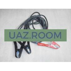 Стартовые провода (провода для прикуривания) 650А (резина) 4,0 метра  (УСИЛЕННЫЕ)