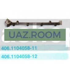 Топливопровод ГАЗ дв.ЗМЗ-4062 с клапаном в сборе (под ХОМУТ) 'ПЕКАР'