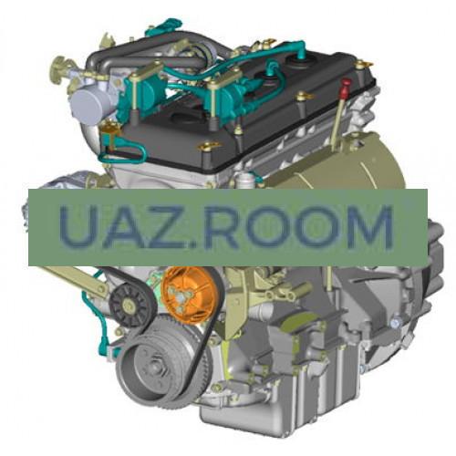 Двигатель  ЗМЗ-40911 АИ-92 УАЗ 452, Евро-4 (4-ступ. КПП, без ГУР, МИКАС BOSCH; с кроншт. ролика)
