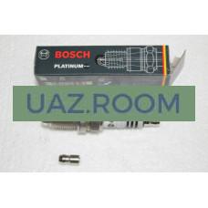 Свеча  BOSCH Platinum+  УАЗ 40904 дв. ЕВРО-3 1.1 мм длин. резьба (ключ 16 мм) 1 ШТ.(в упак.)FR8DPX