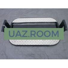 Подножки  УАЗ 452 (защиты порогов, с алюминиевыми накладками, с защитой бензобака, КОМПЛЕКТ 2 ШТ.)