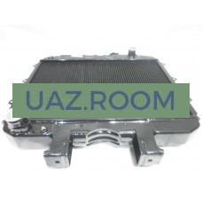 Радиатор  охлаждения  УАЗ 452, 469 медный ДВУХрядный (Оренбург)