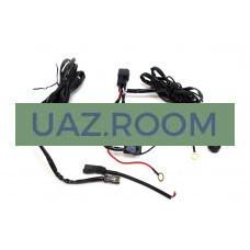Комплект проводки для подключения 1-й дополнительной LED-фары (с кнопкой, реле 40А)