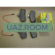 Колодка  тормозная передняя ВАЗ-2110-2112, КАЛИНА, ПРИОРА, ГРАНТА (к-кт 4шт.)