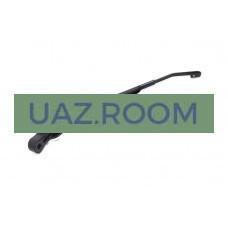 Поводок (рычаг стеклоочистителя)  УАЗ 452 ЛЮКС (черный) с крючком левый