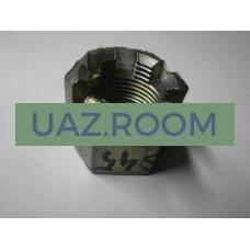 Гайка  М20х1,5, h = 22, под ключ 27 (продольной штанги  УАЗ), корончатая