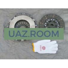 Сцепление  УАЗ дв.УМЗ-417,-421 (корзина+диск: ЛЕПЕСТКОВОЕ, широкий шлиц) БЕЗ подш. 'STARCO'
