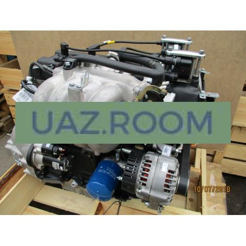 Двигатель  ЗМЗ-40911 АИ-92 УАЗ 452, Евро-4 (5-ступ. КПП, ПОД ГУР, МИКАС BOSCH, С датчиками)