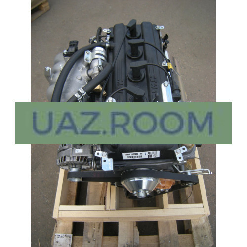 Двигатель  ЗМЗ-40911 АИ-92 УАЗ 452, Евро-4 (5-ступ. КПП, без ГУР, МИКАС BOSCH; с кроншт. ролика)