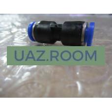 Фитинг  (соединитель) пластиковый прямой d 6 мм (PUC6)