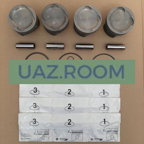 Группа поршневая дв.409 95,5 УАЗ 'Эксперт' (Кострома) с пальцами и кольцами (ГРУППА Б)