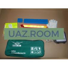 Набор  автомобилиста в сумке 'УАЗ' (аптечка, огнетушитель, трос, знак аварийный) ОРИГИНАЛ