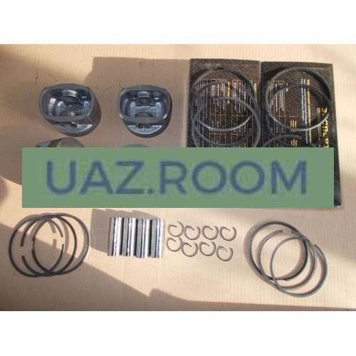 Группа поршневая дв.409 96,5 УАЗ 'Эксперт' (Кострома) с пальцами и кольцами (ГРУППА Б)
