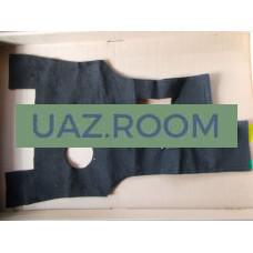 Шумоизоляция  пола среднего  УАЗ ПРОФИ 4*2 (236021), покрытие текстильное
