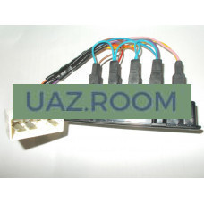 Глазки  УАЗ 452 (блок контрольных ламп, без АБС, под МИКАС 0 261 S08 681) С ПРОВОДКОЙ**
