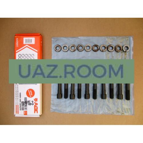 Комплект крепежа головки блока УАЗ 409, ГАЗ 405 дв. ЕВРО-3 (болты, шайбы) 'АДС'