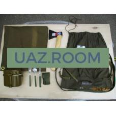Сувенирный  набор 'ПОБЕДНАЯ СЕРИЯ' (вещмешок, плащ-палатка, топор, котелок, столовые приборы) 'УАЗ'
