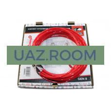 Комплект для вывода сапунов УАЗ 452, 469, Хантер (на мосты, агрегат; БЕЗ глушителя) 'redBTR'