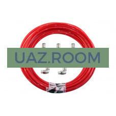Комплект для вывода сапунов УАЗ Патриот, Хантер с КП DYMOS (на мосты, КПП, РК) 'redBTR'