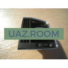 Дефростер  (дефлектор воздуха) панели приборов  УАЗ Патриот, PICKUP с 2016 боковой левый, накл. ХРОМ