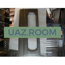 Панель  перегородки салона УАЗ 3909 верхняя ГОЛАЯ (под 2 окна) ##