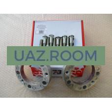 Адаптеры для расширения колеи  УАЗ 25 мм (2 штуки) (алюминий) (СО ШПИЛЬКАМИ) 'AG'