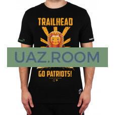 Футболка  BAZAUAZ DKR TEAM 'GOПатриотS' чёрная (размер L)  'TRAILHEAD'