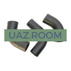 Патрубки  радиатора  УАЗ 452, 469 дв.4178 (к-кт из 3-х шт.) EPDM-каучук 'MetalPart'