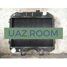Радиатор  охлаждения  УАЗ 452, 469 медный ДВУХрядный (ШААЗ)