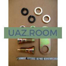 Ремкомплект  регулировочный заднего тормоза УАЗ (болт эксцентрик задний + пластина) ('ФАКТОР')