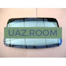 стекло ГАЗ 3302 ГАЗель, СОБОЛЬ лобовое  С ПОЛОСОЙ, тонированное зеленое (ЗПТЗ)