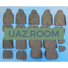 Чехол  сиденья  УАЗ 220695 (полный комплект 9 мест) (с 2016 г.в.) без подголовников