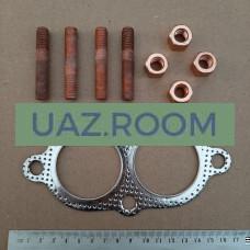 Прокладка  приемной  трубы (фланца, к коллектору) УАЗ 409 дв.,ГАЗ 406 дв. со шпильк. и гайк. 'ESPRA'