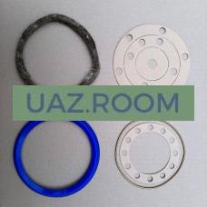 Ремкомплект  поворотного кулака  УАЗ гражданский мост (7 позиций: сальник, войлок, прокл.) СИНИЙ**