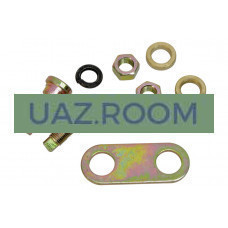 Ремкомплект  регулировочный заднего тормоза УАЗ (болт эксцентрик задний + пластина) ('MetalPart')
